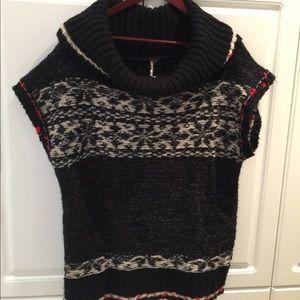 Free People Short Sleeve Sweater Size Large